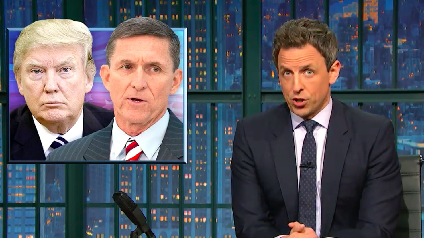 Image result for seth meyers trump flynn