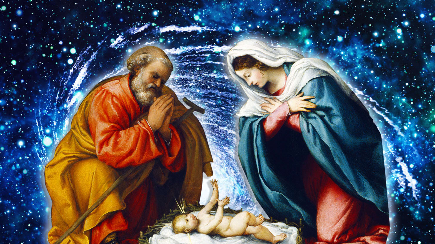 Jesus being born pictures