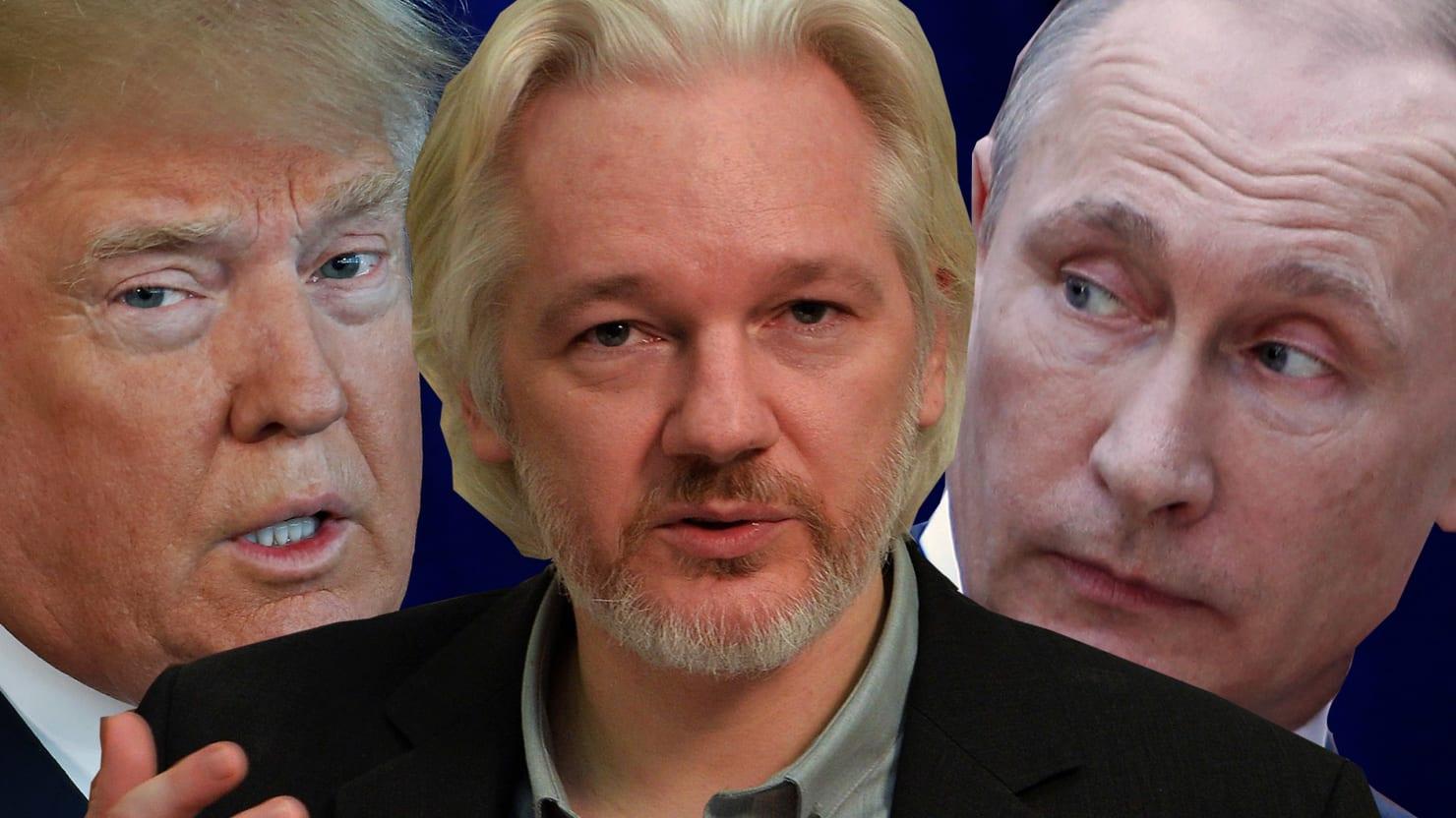 Image result for assange putin trump