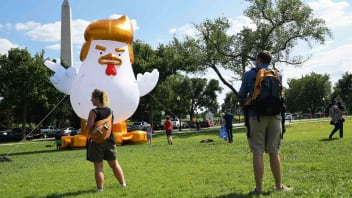 A Giant Trump Chicken Was Staring Down The White House