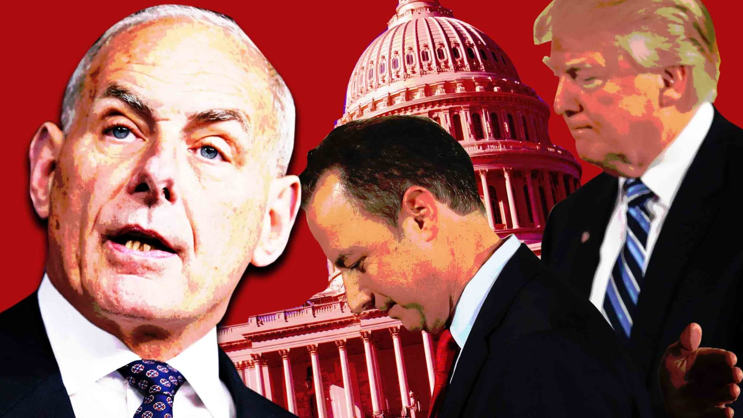 Image result for images of Priebus vs John Kelly