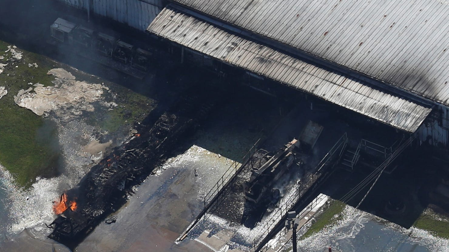 Burning plant in Texas fined by feds before flood