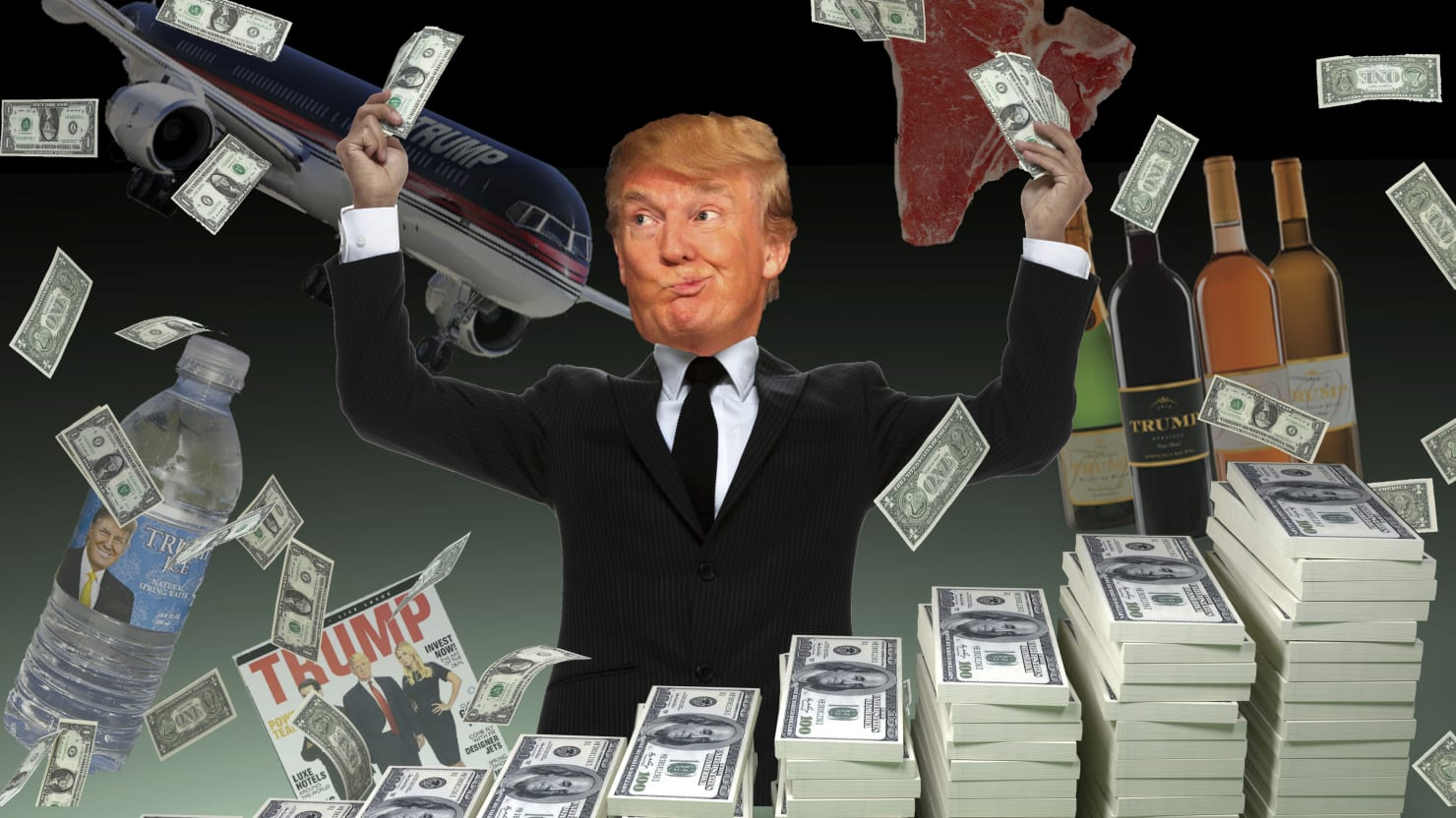 Image result for Trump Rich