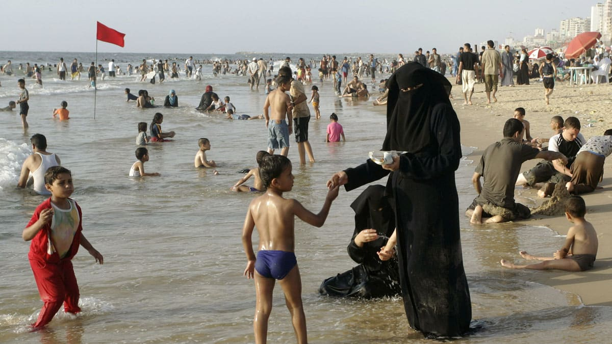 Image result for Muslims on beach