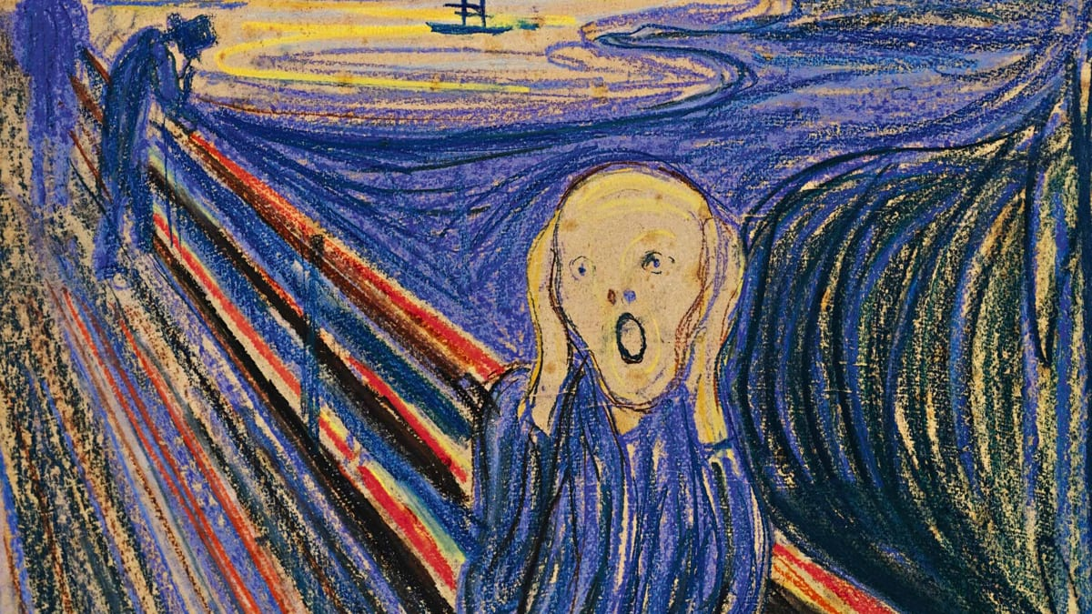 Image result for scream painting