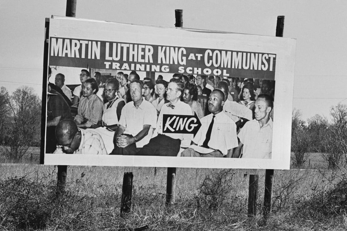... the Washington Mall when he paid tribute to Dr. King, also part of a repeated riff on his show, which featured King's face in a parade of heroes ...