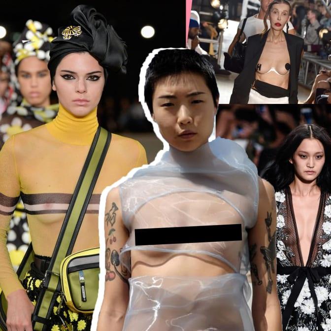 Nipples and Nudity at New York Fashion Week