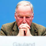 Top candidate of Alternative for Germany (AfD, Alternative fuer Deutschland) Alexander Gauland