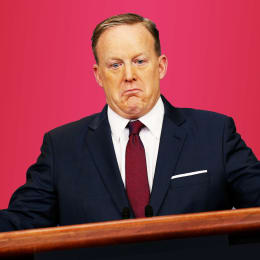 No longer in the White House, Sean Spicer is struggling with the stain of his tenure.