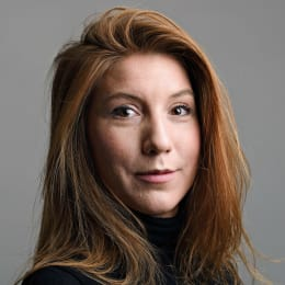"Journalist Kim Walls, who disappeared reporting on the home-made submarine ""UC3 Nautilus"", built by Danish inventor Peter Madsen, who is charged with killing the Swedish journalist"