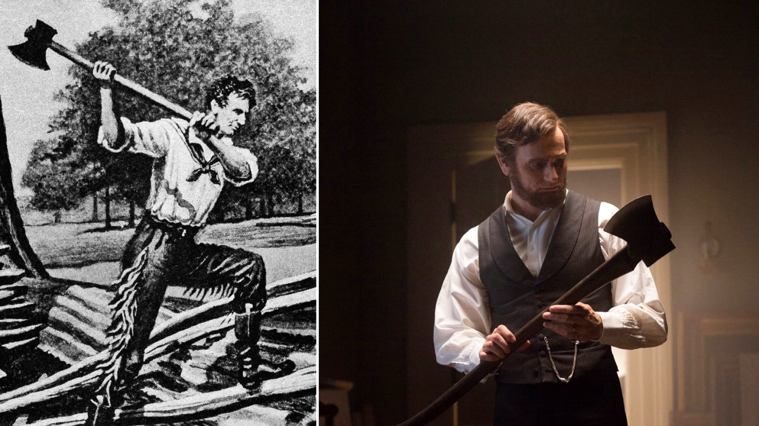 Abe lincoln swinging an axe galleries 794