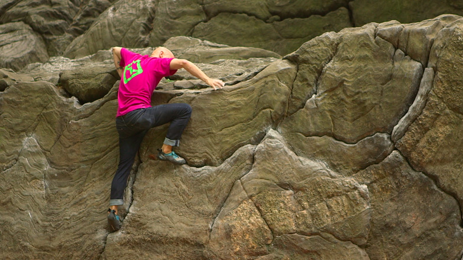 Rock Climbing In The Middle Of New York City's Central Park