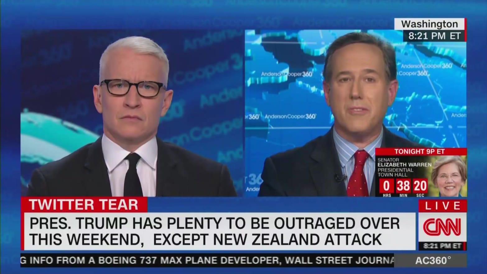 CNN's Rick Santorum: I Wish Trump Would Email a Therapist Instead of Tweet