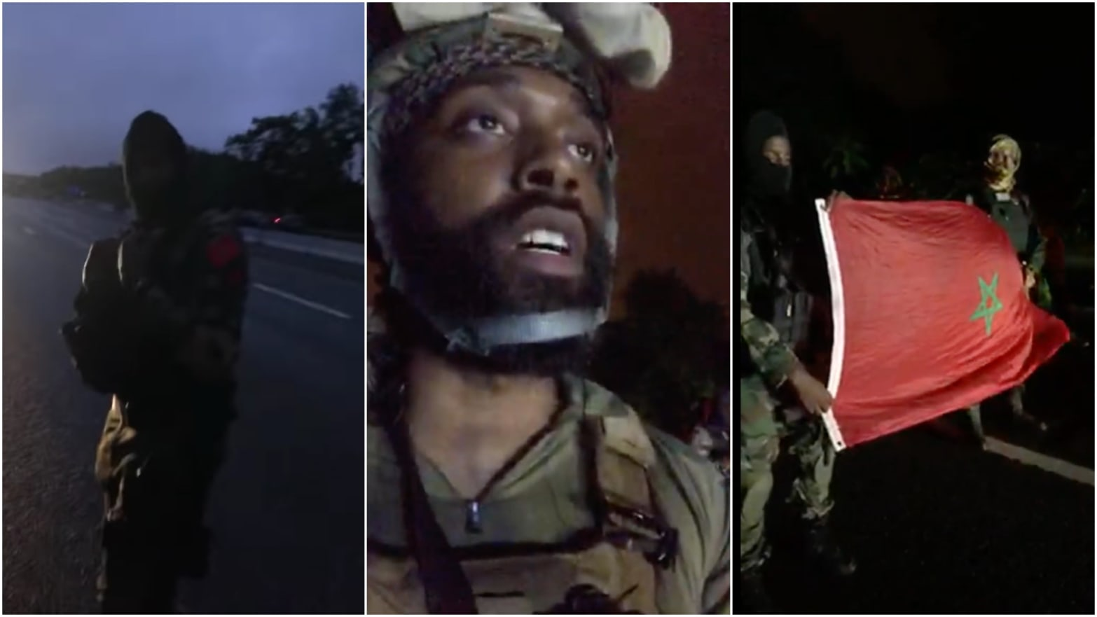 Armed Militia Group Called Rise of the Moors Shut Down Interstate 95 in  Wakefield, Massachusetts