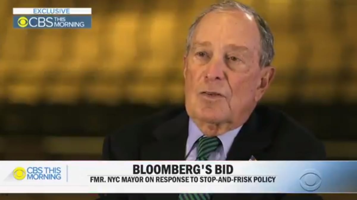 Bloomberg Falsely Claims 'Nobody Asked' Him About Stop and Frisk Before He Ran for President