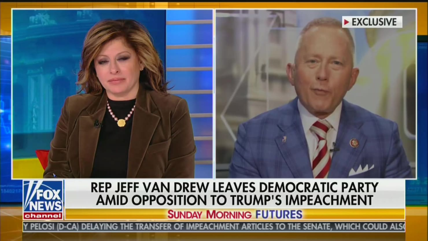 Rep. Jeff Van Drew Gushes Over Fox News Host, Says 'I'm So Proud to Be Associated With You!'