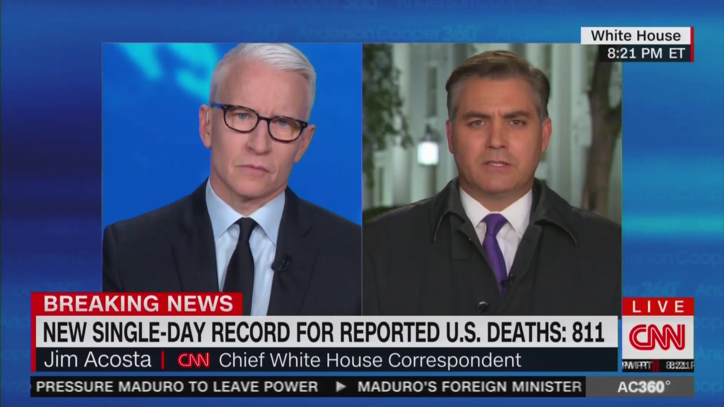 CNN's Jim Acosta: 'This Was a Different Trump' at Coronavirus Briefing