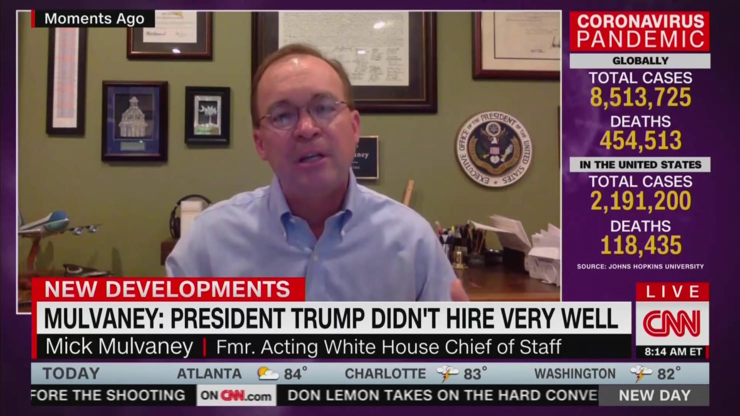Photo of Mulvaney on Former Aides Criticizing Trump: 'He Didn't Hire Very Well' | The Daily Beast