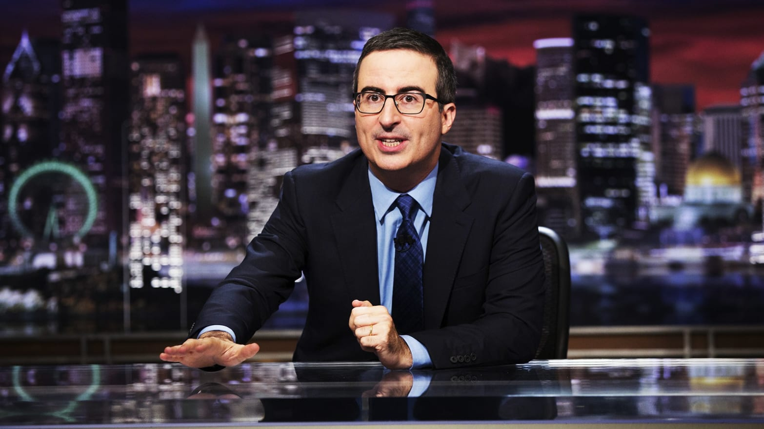 John Oliver Rails Against Trump Over 'Shocking' El Paso Hospital Visit
