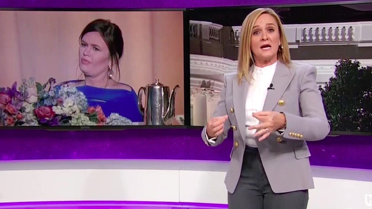 Samantha Bee Rips Female Journalists for Defending 'Completely Evil' Sarah Huckabee Sanders