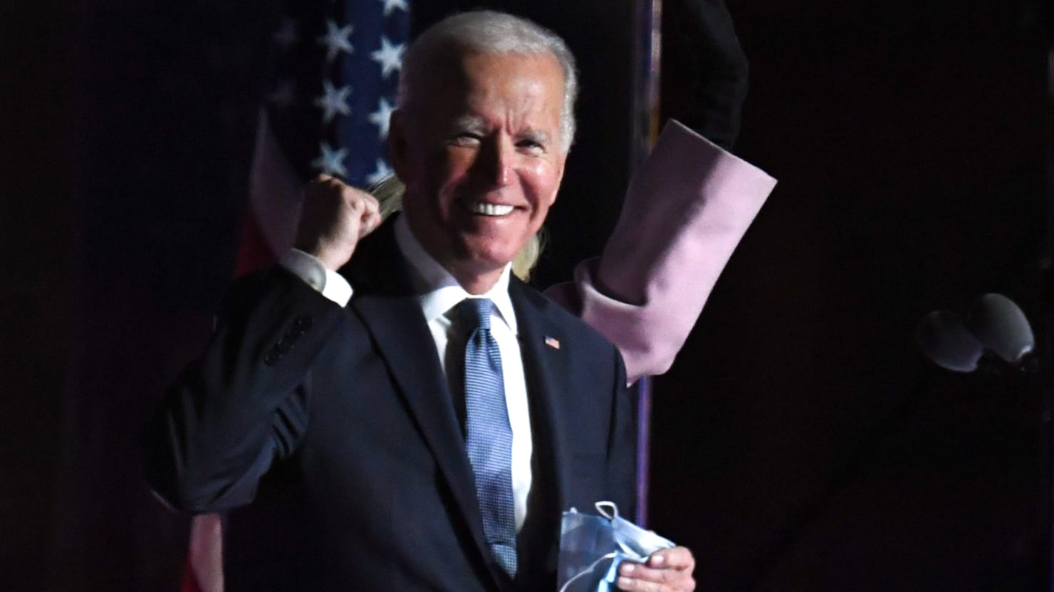 Biden in Election Night Address: 'We Feel Good About Where We Are'