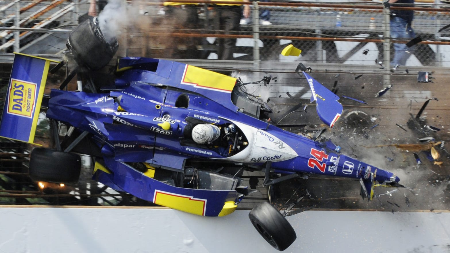 The Most Spectacular Death Defying Crashed In Indy 500