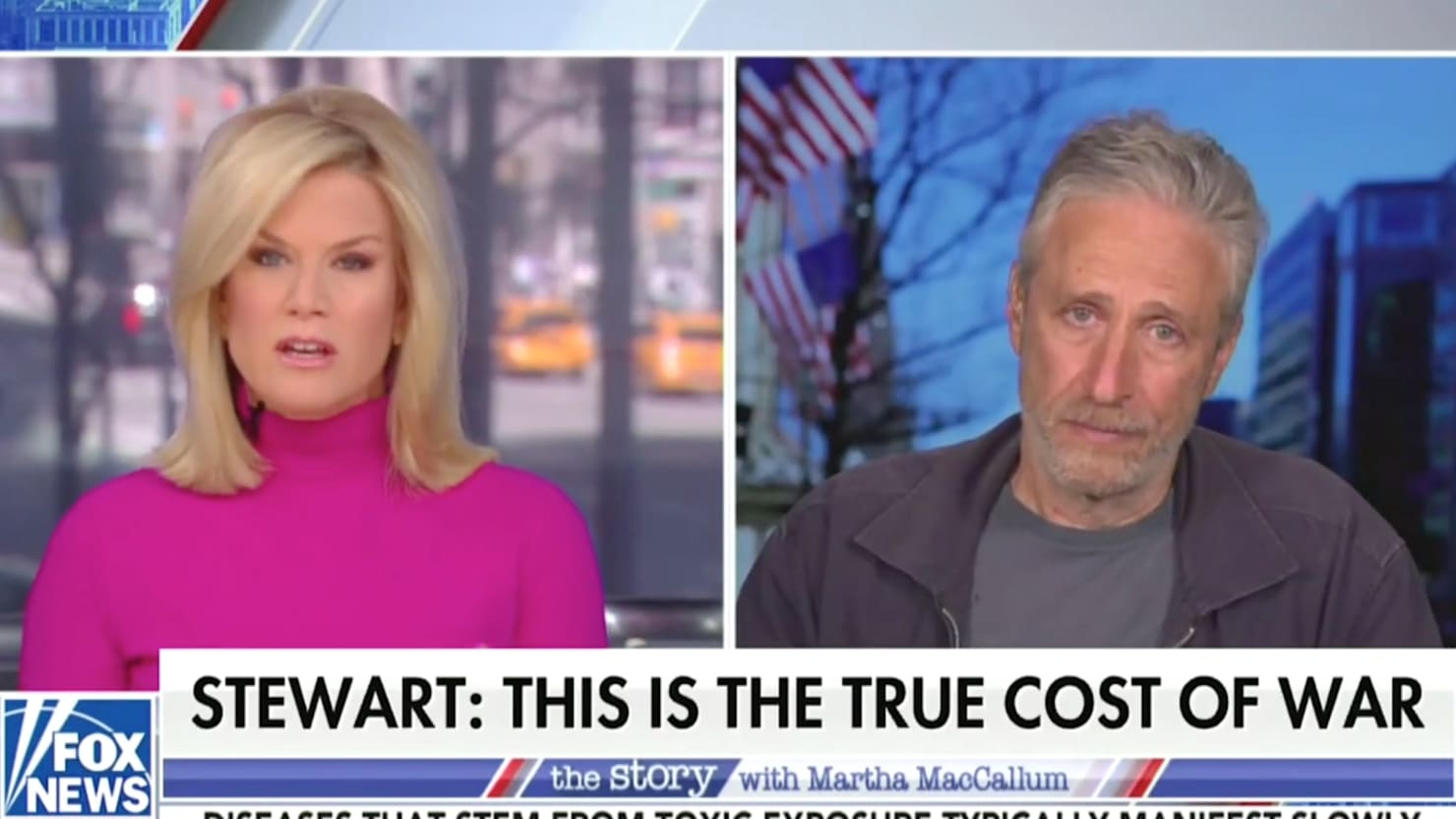 Fox News host Martha MacCallum tries and fails to lure Jon Stewart to attack Biden