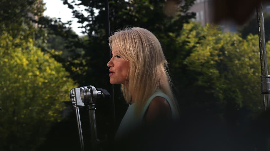 Kellyanne Conway: Trump Senior Adviser Falsely Claims Antifa Is Short for 'Anti-First Amendment'