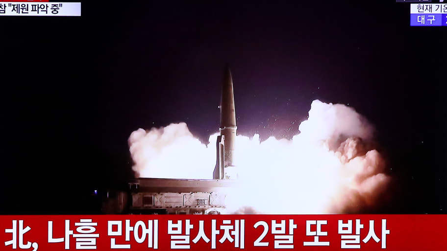 N Korea launches two new missiles