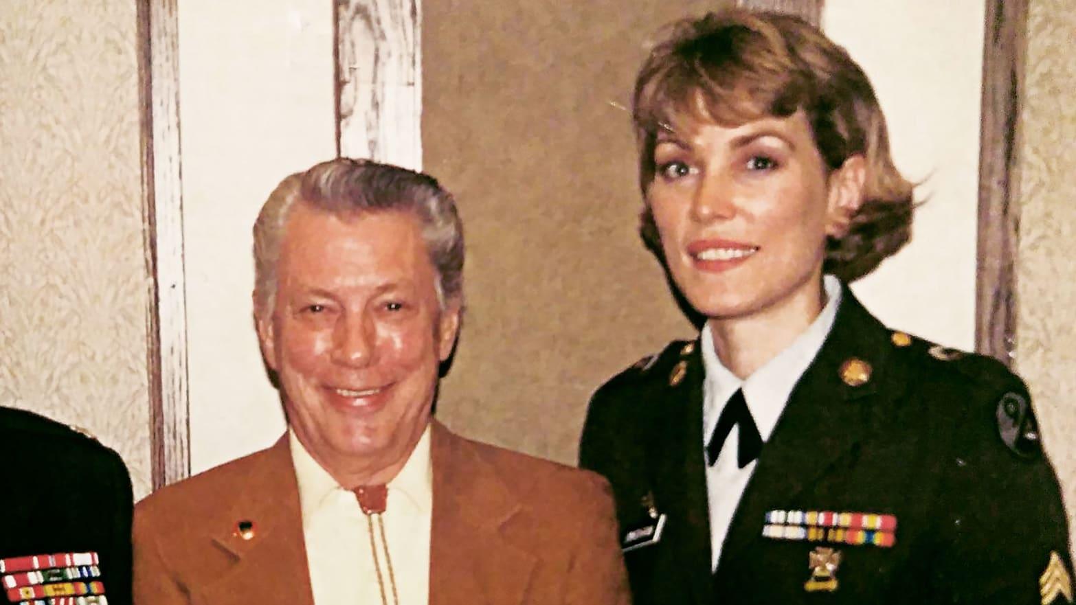 Wayne Johnny Johnson and Sgt V Bingham Schraumburg IL, 1996.