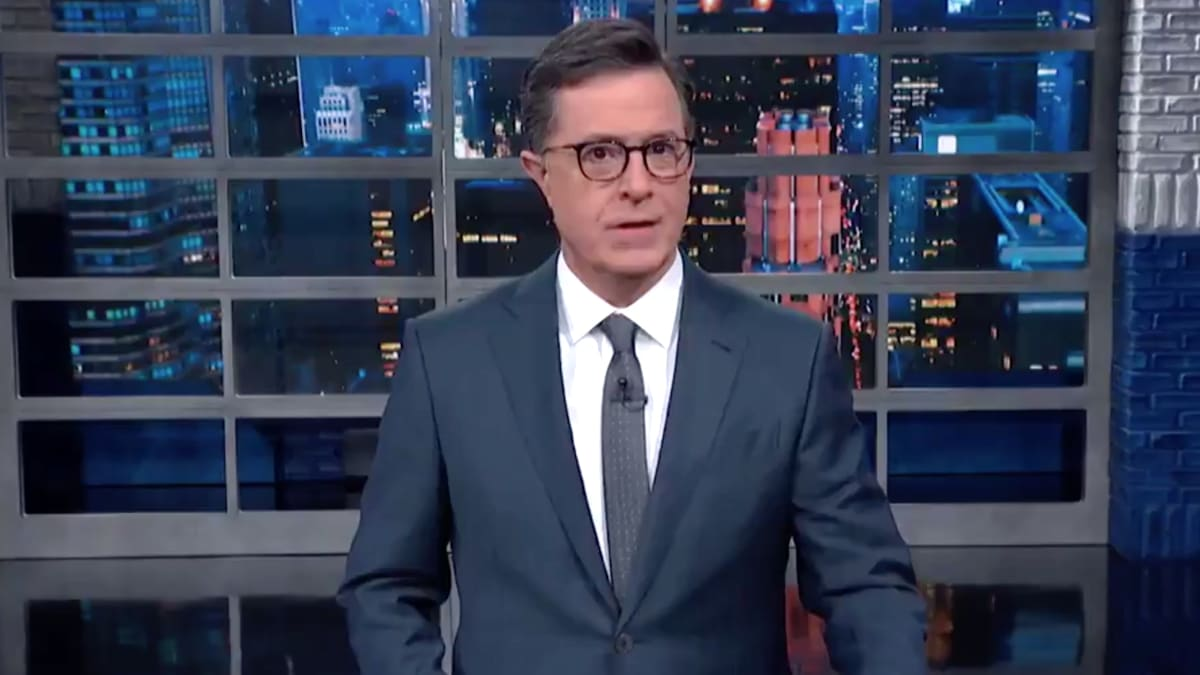 Colbert Mocks Reporter James Rosen Who Got 'Balls' Taken by Nancy Pelosi