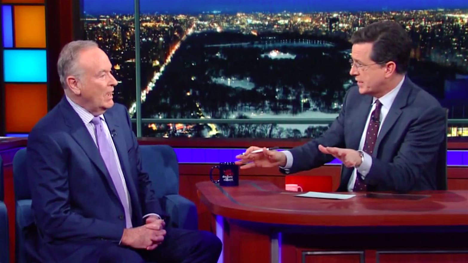 Colbert Butts Heads with Bill O'Reilly: 'Why Can't We Just Love Each Other?'