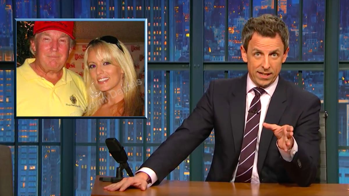 Seth Meyers Rips Christian Right for Forgiving Trump on Stormy Daniels