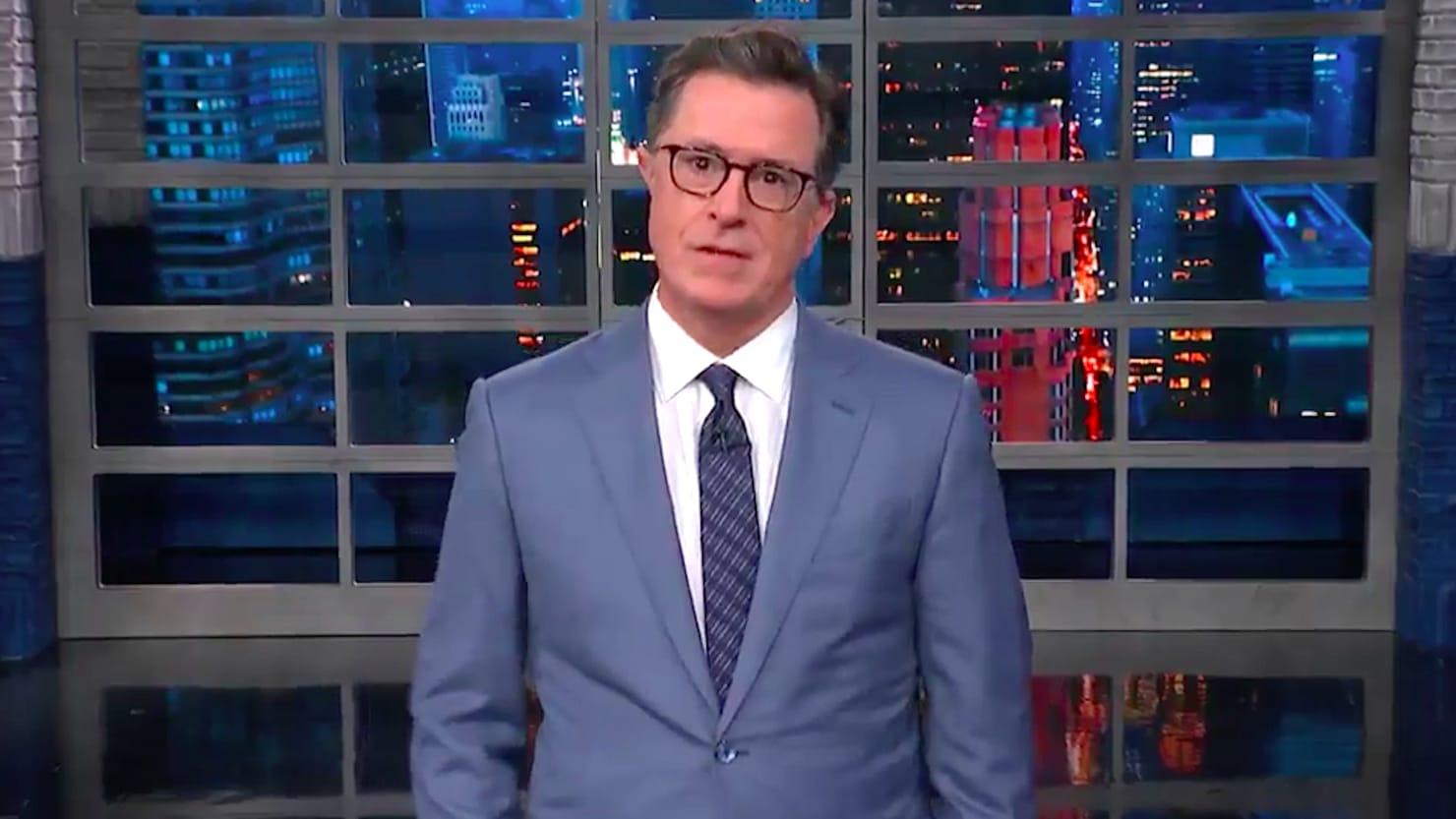 Stephen Colbert Rips Sarah Huckabee Sanders for Defending Trump's 'Racism'