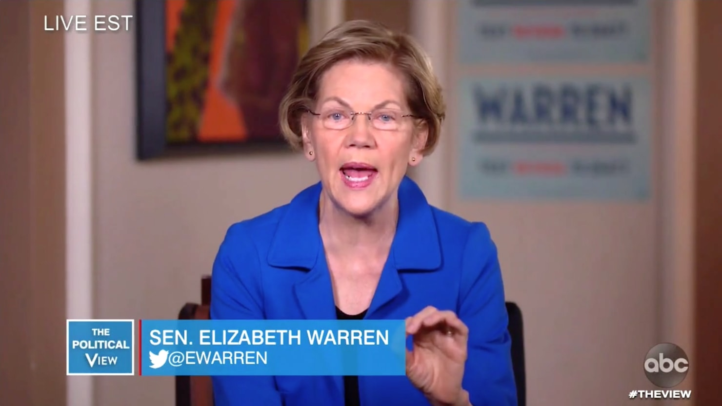 Elizabeth Warren Brings Her Bloomberg Knockout Punch to 'The View'