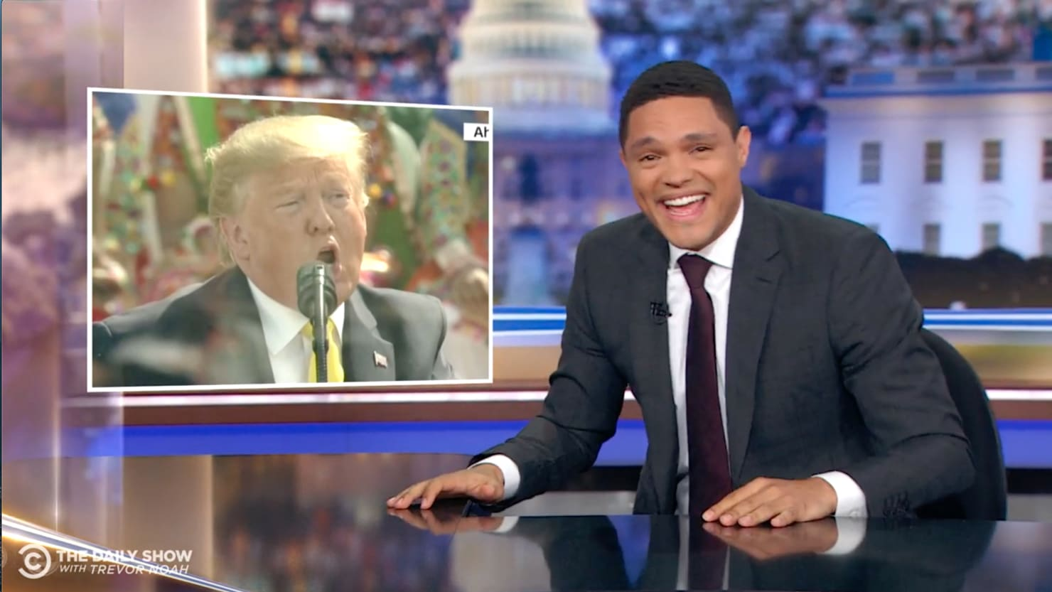 Trevor Noah Brutally Mocks Trump for 'Butchering' India Speech
