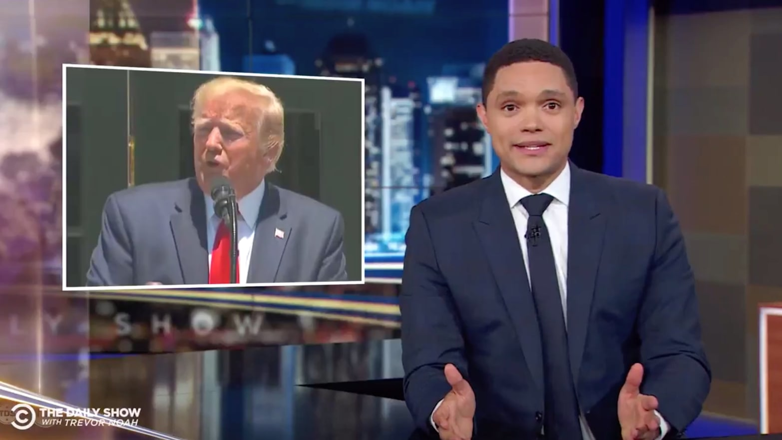 'Daily Show's' Trevor Noah Compares Trump to Hitler After Racist Tweets Against Congresswomen