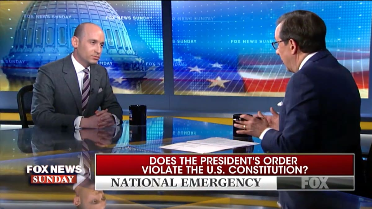 Fox News' Chris Wallace Hammers Stephen Miller: How Is This a 'National Emergency?'