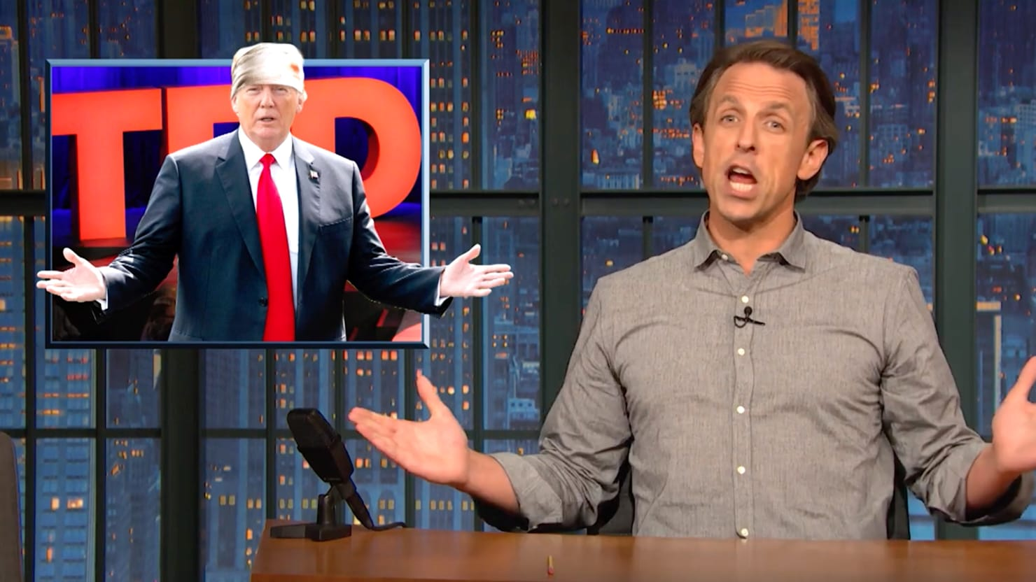 Seth Meyers: Trump Sounds Like Doctor With 'Massive Head Wound'