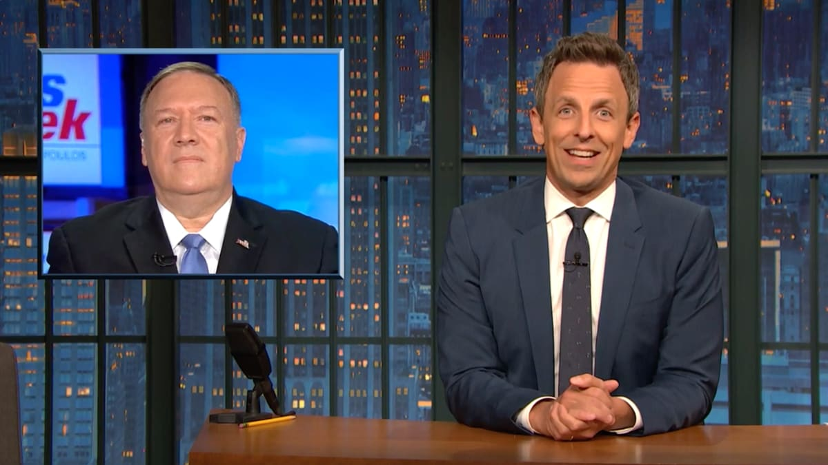 Seth Meyers Blasts Mick Mulvaney and Mike Pompeo's Disastrous Sunday-Show Spin