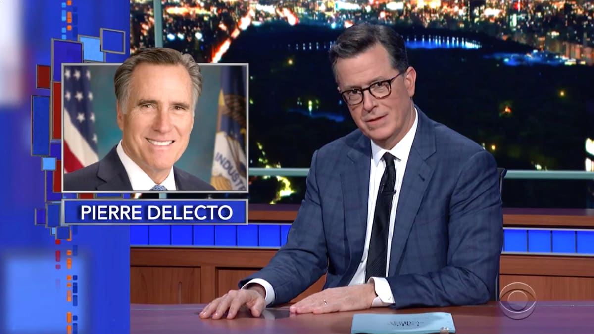 Stephen Colbert and Conan O'Brien Mock Mitt Romney's 'Embarrassing' Secret Twitter Account Pierre Delecto