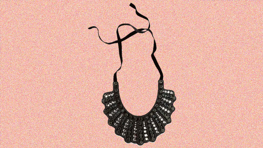 89b891de6 Ruth Bader Ginsburg's 'Dissent Collar' Necklace From Banana Republic Is  Back On Sale