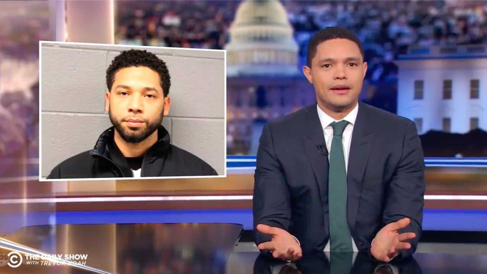 'Daily Show's' Trevor Noah Destroys Jussie Smollett's 'Fake Hate Crime' Fail