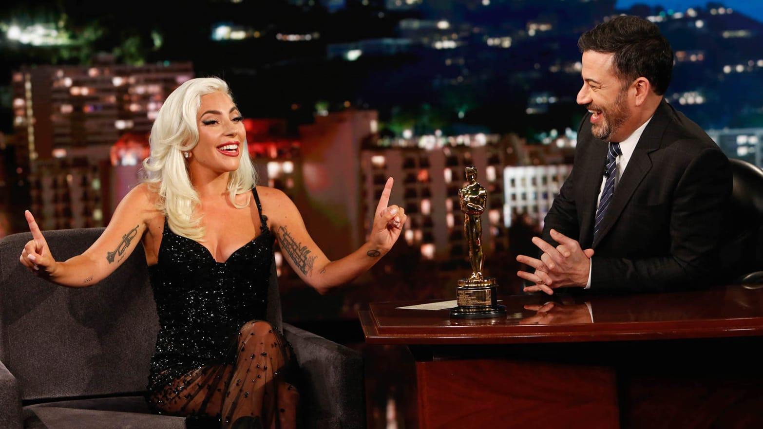 Jimmy Kimmel Grills Lady Gaga on Steamy Oscar Duet With Bradley Cooper