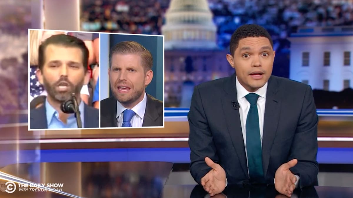 'Daily Show's' Trevor Noah Exposes Eric and Donald Trump Jr.'s Hunter Biden Nepotism Hypocrisy