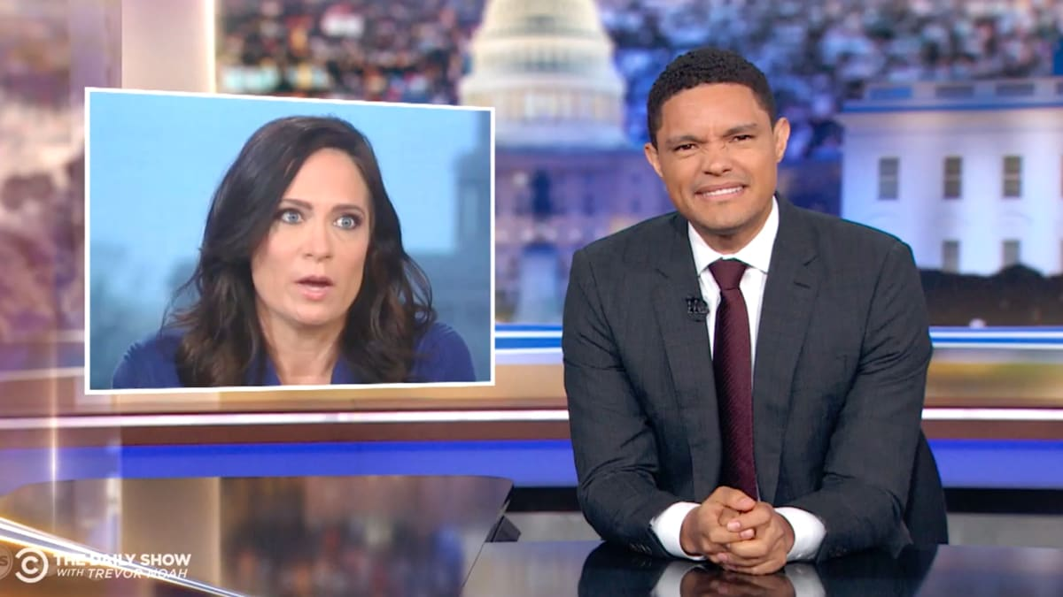 'Daily Show' Host Trevor Noah Mocks Press Secretary Stephanie Grisham's Ridiculous Trump Spin