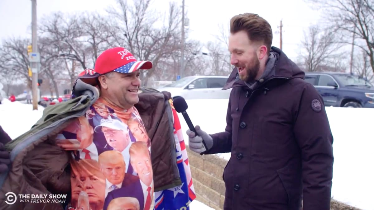 'Daily Show' Trolls the Hell Out of Trump Supporters in Iowa