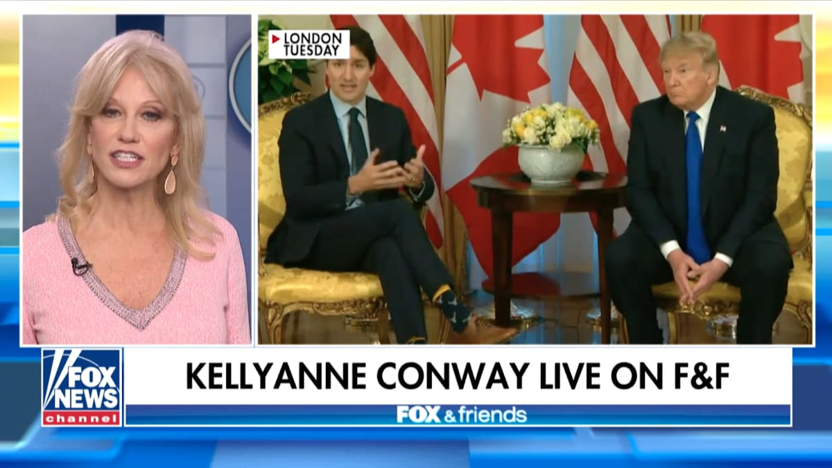 Kellyanne Conway Thinks Justin Trudeau Is Just 'Jealous' of Trump