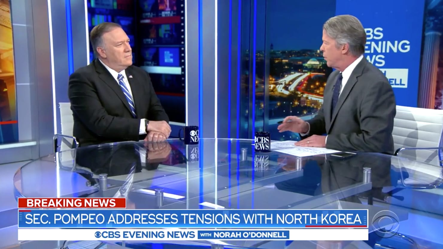 Mike Pompeo Grilled on CBS: You're Not 'Alarmed' by North Korea News?