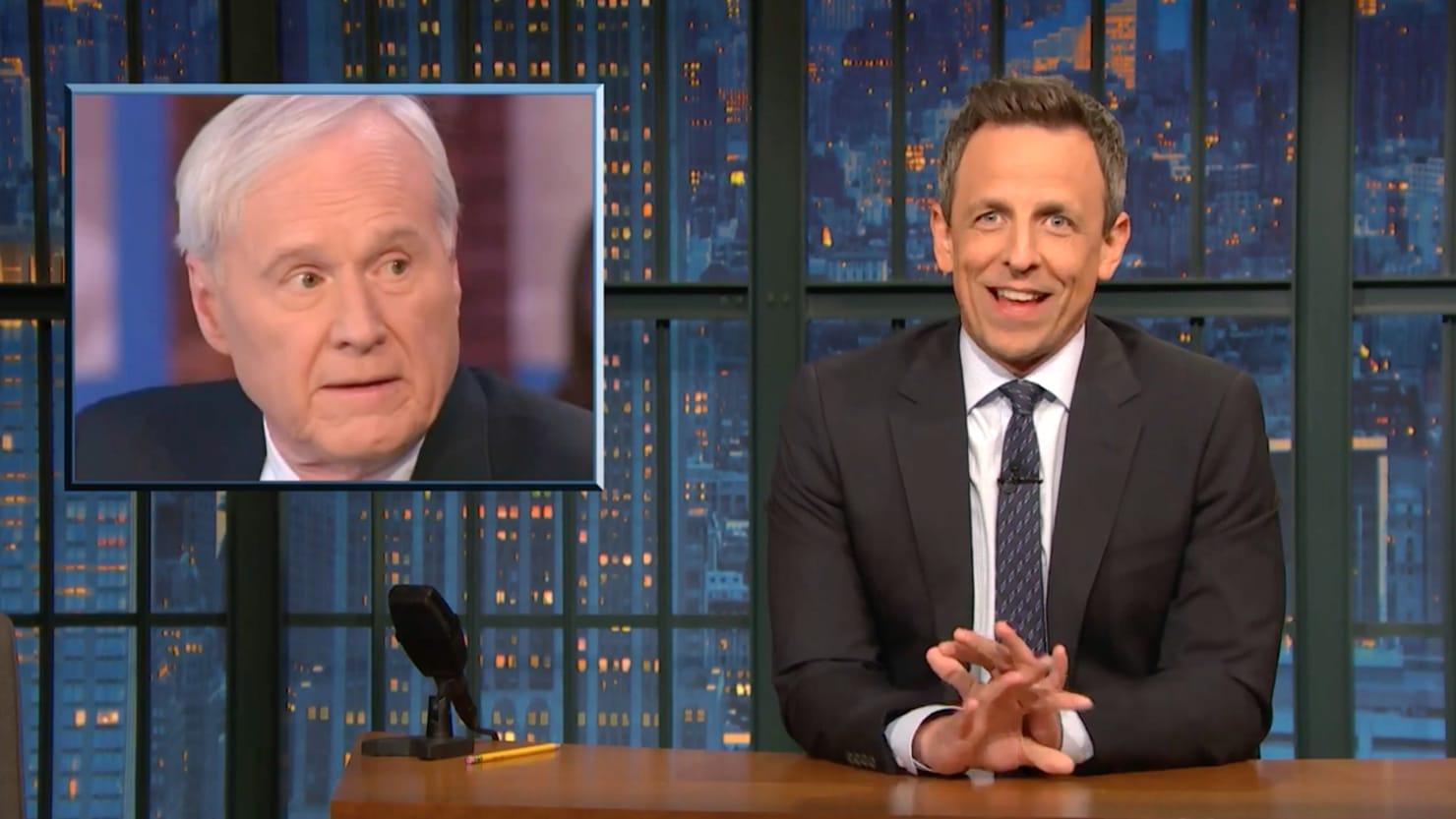 Seth Meyers Unloads on Chris Matthews for 'Deranged' Bernie Sanders Attacks